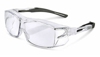 BBrand H60 Clear Lens Safety Specs Spectacles Glasses Fits Over Prescription New