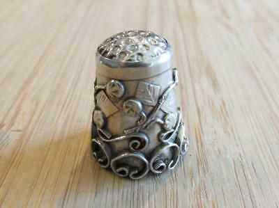 Mexico Sterling Silver Vintage Thimble ~ 4.6grams ~ 3-K6562