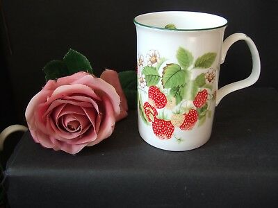 Roy Kirkham Bone China Mug Fruit Garden Design Strawberry 1990