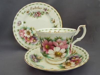 Royal Albert *OCTOBER* Flower of the Month Trio