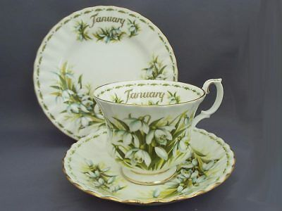 Royal Albert *JANUARY* Flower of the Month Trio