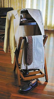 Wood Butler Stand Valet Suit Rack Hanger Clothes Organizer Clothing Wardrobe New