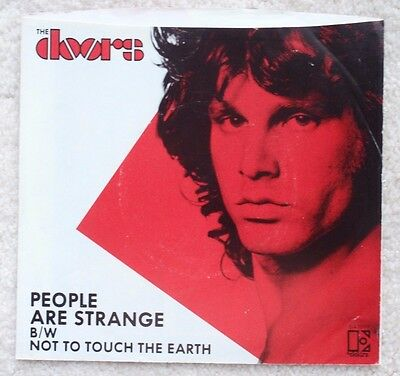 DOORS picture sleeve ~ PEOPLE ARE STRANGE ~ Jim Morrison, Lizard King, PS 45 rpm