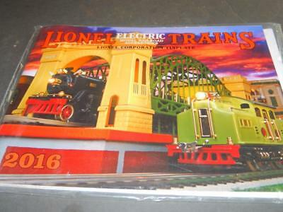Mth Trains- 2016 Lionel Corporation Tinplate Catalog - New- W4