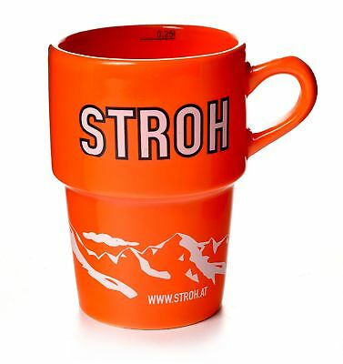 Stroh Jagertee Tasse Orange originale Rum Becher 0,25 l