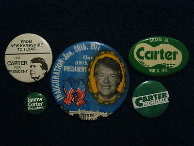 5-JIMMY CARTER  1976-'77 Campaign/Inauguration Pinbacks