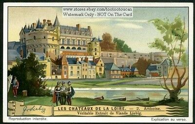 Amboise French Castle Chateaux 1930s Trade Ad Card