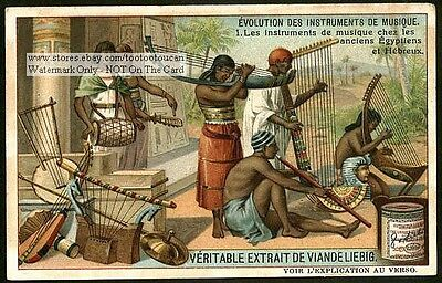 Early Egyptian Hebrew Musical Instruments c1910 Trade Ad Card
