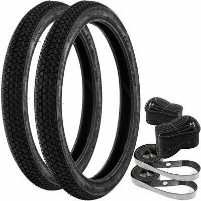 Honda Motorcycle Scooter C50 C70 C90 Cub C90 Tyres Inner Tubes Rim Tapes 2.50x17