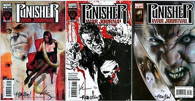 PUNISHER WAR JOURNAL 16 17 18 SET DYNAMIC FORCES SIGNED x2 DF COA MARVEL NETFLIX