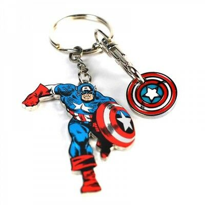 Captain Amerca Metal Keyring & Trolley Coin Marvel Bnwt Avengers