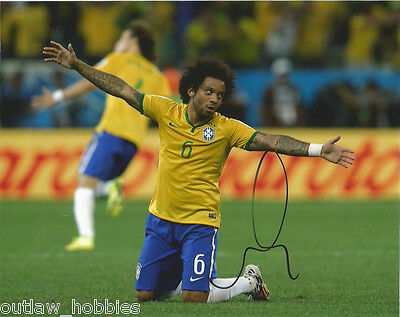 Brazil Marcelo Autographed Signed 8x10 Photo COA C