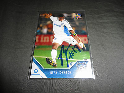 San Jose Earthquakes Ryan Johnson Autographed 2011 UD MLS Card