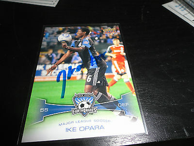 San Jose Earthquakes Ike Opara Autographed Signed 2012 UD MLS Card