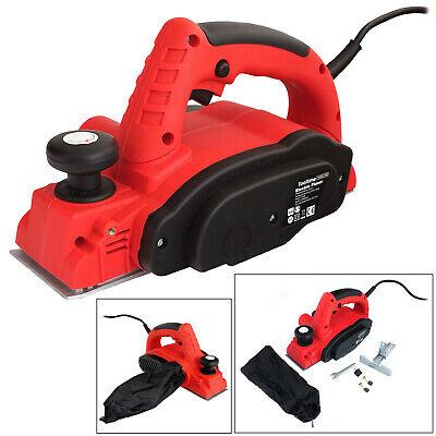 Voche® 710W Electric Power Planer Wood Plane Parallel Rebate Guides And Dust Bag