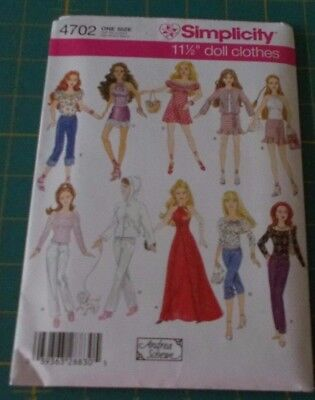 3 Doll Clothes Sewing Patterns fits Barbie/new