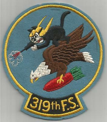 "WW 2 US Army Air Forces 319th Fighter Squadron 6"" Tall Patch Inv# K180"