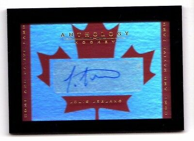 Louis Leblanc Nhl 2015-16 Anthology Home And Native Land Signatures (Canadiens