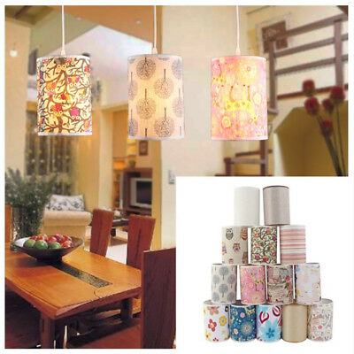 Cotton Textured Fabric Drum Shade Table Wall Cylinder Lampshade Lightshade Cover