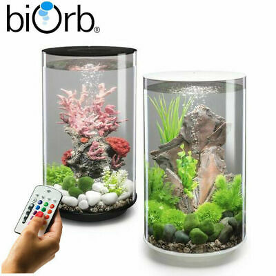 Oase BiOrb Tube 30 Aquarium Fish Tank MCR LED Lighting Filter Black / White 30L