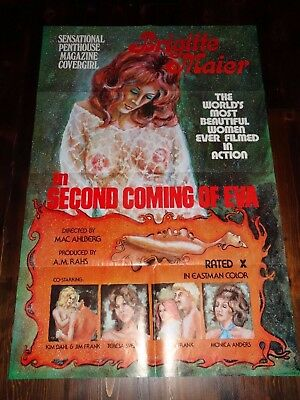 Second Coming Of Eva 1974 Mac Ahlberg Original X-Rated Sexploitation Film Poster