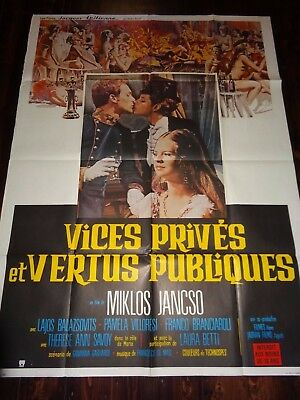 Private Vices Public Pleasures Original Sexploitation Erotic French Film Poster