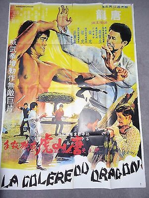 La Colère Du Dragon Growling Tiger Karate Kung Fu Rare 1974 French Film Poster