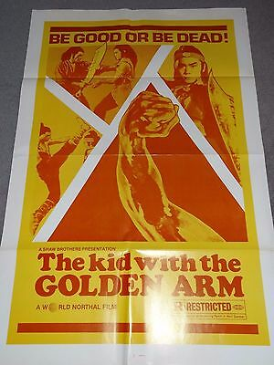 The Kid With The Golden Arm Shaw Brothers Kung Fu Karate Original US Film Poster