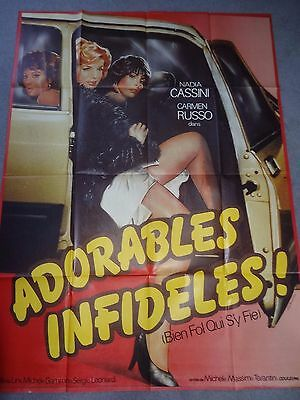 Adorables Infideles Italian Sexploitation Erotic Original French Film Poster