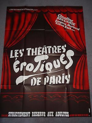 Theatres Erotiques De Paris Sexploitation Burlesque Adult X 1975 FRENCH POSTER