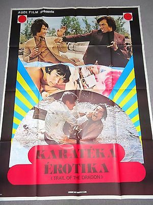 Karateka Erotika Trail Of The Dragon Karate Kung Fu RARE FRENCH FILM POSTER