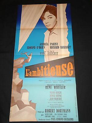 L'Ambitieuse The Dispossessed Yves Allégret 1959 Original French Film Poster