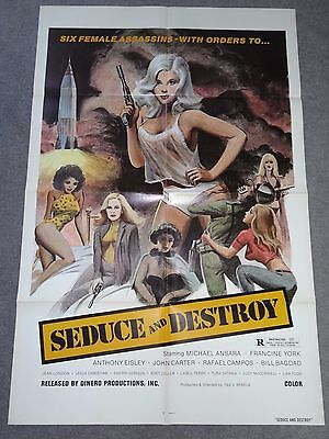 The Doll Squad Seduce & Destroy Ted V Mikels Sexy Cult Art Original Film Poster