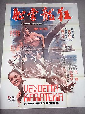 Vendetta Karateka Godfather Of Hong Kong Kung Fu Karate RARE FRENCH FILM POSTER