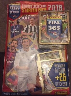 NEW Panini  XL FIFA 365 STICKERS 2018 FULL BOX 50 PACKETS AND ALBUM