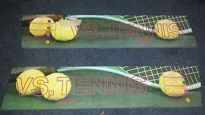 Nintendo VS system tennis vs  right and left Marquis glass for the Dual stand