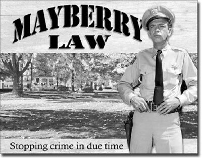 Andy Griffith: Mayberry Law/Barney Fife Metal/Tin Sign (SKU 1639)