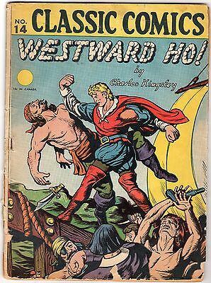 Classic Comics #14 (HRN# 15) Westward Ho! FR Comic Book J&R