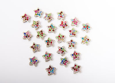 Sparkling star crystal silver beads charms jewelry making bracelet charms
