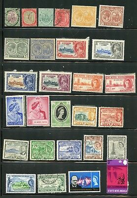 ST. KITTS-NEVIS--Lot of 43 different stamps