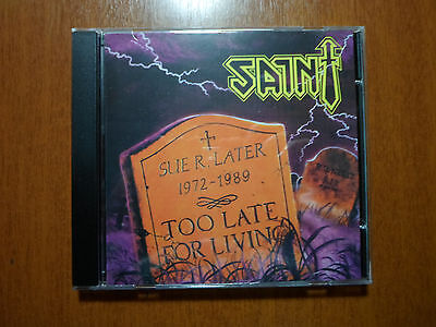 Saint - Too Late for Living Official Braz Version NEW OOP RARE LIM. 500 Copies