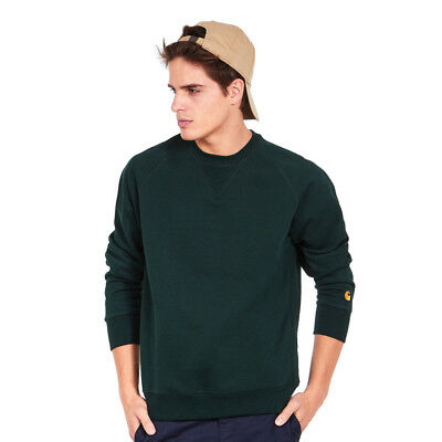Carhartt WIP - Chase Sweat Parsley / Gold Pullover Rundhals