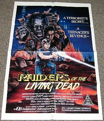 Raiders Of The Living Dead 1986 Orig. Movie Poster! Zombie Horror Exploitation!