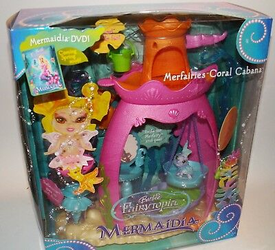 Barbie Fairytopia Mermaidia Merfairies Coral Cabana Mermaid Fairy Play Set