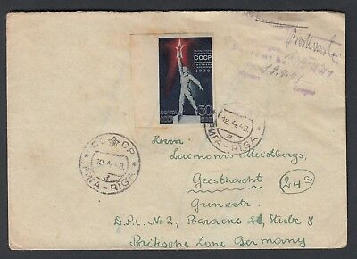 LATVIA 1948 COVER TO D.P. CAMP - British Zone