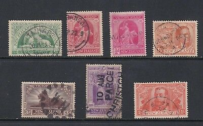 NEW ZEALAND 1920 VICTORY set of 6, USED