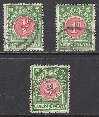New Zealand 1919-38 Postage Dues, Used