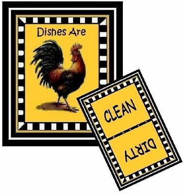 ROOSTER #1 - Dishwasher MAGNET (Clean/Dirty) SHIP FREE!