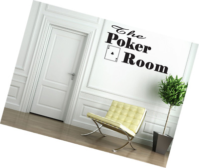 Boodecal Quote Series The Poker Room Playing Cards Decal Quote Vinyl Lettering S