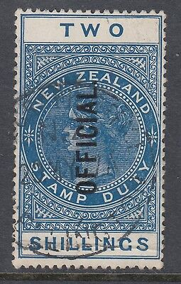 NEW ZEALAND 1913 2/- Queen Victoria OFFICIAL, USED